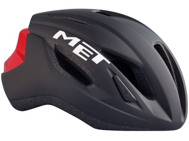 MET Strale - Casco de bicicleta - rojo/negro